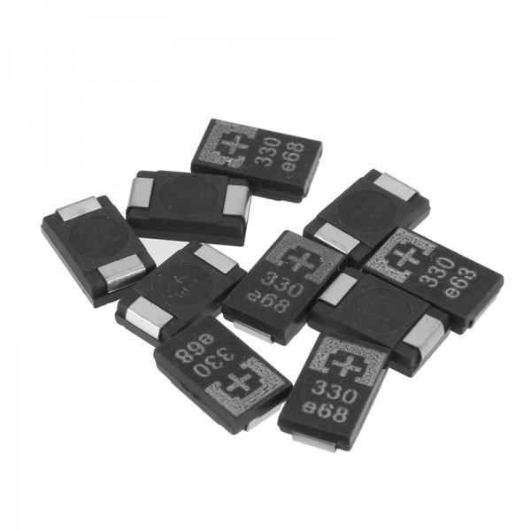 10 Pcs SMD Tantalum Polymer Capacitors 2R5TPE330M9 2.5V 330UF POSCAP Polymer Capacitance