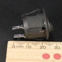 5Pcs Mini Round Black 2 Pin SPST ON-OFF Rocker Switch Button